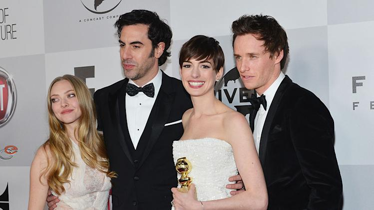 "NBC's ""70th Annual Golden Globe Awards"" - Party: Amanda Seyfried, Sacha Baron Cohen, Anne Hathaway and Eddie Redmayne"