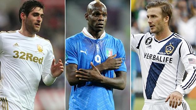 Danny Graham, Mario Balotelli, David Beckham