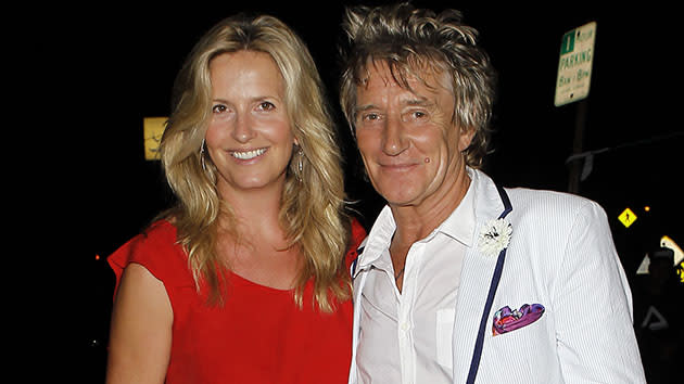 Rod Stewart And Penny Lancaster Sighting In Los Angeles - September 11, 2012