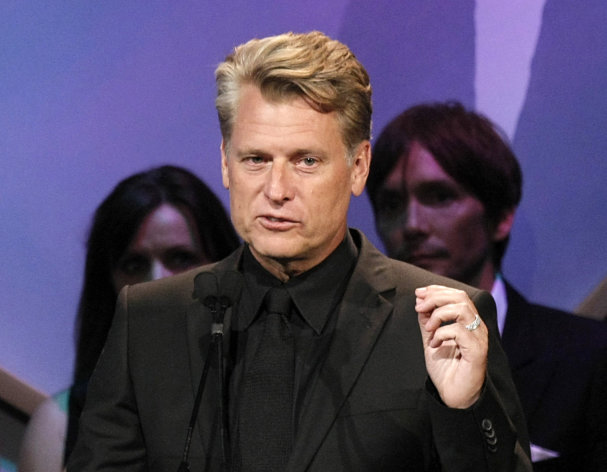 "FILE - This Oct. 2, 2009 file photo shows Joe Simpson speaking at the Operation Smile ""Smile Gala"" in Beverly Hills, Calif. Los Angeles prosecutors are charging Simpson with two counts of drunken driving after his arrest earlier this month. City attorney's spokesman Frank Mateljan said Wednesday that 54-year-old Joe Simpson faces a maximum sentence of 6 months in jail, 36 months of probation and a $1,000 fine. He was arrested Aug. 4 after authorities say he registered a blood-alcohol level of 0.08 percent or above at a DUI checkpoint in the Sherman Oaks area. (AP Photo/Dan Steinberg, file)"