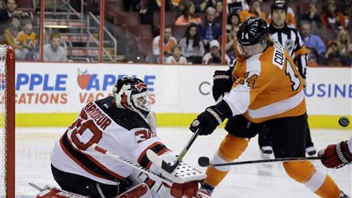 Devils top Flyers 3-0, end 10-game winless streak