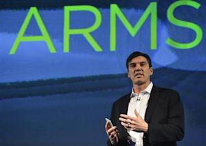 Chairman and CEO of AOL, Tim Armstrong, speaks during the launch of the HTC One smartphone in London