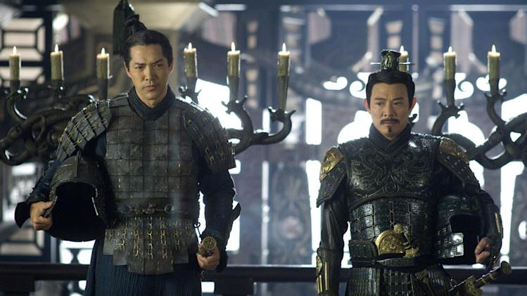 Russell Wong Jet Li The Mummy: Tomb of the Dragon Emperor Production Universal Pictures 2008