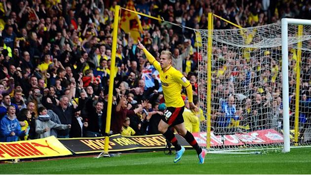 Championship - Deeney seals Watford final play-off place after astonishing finish