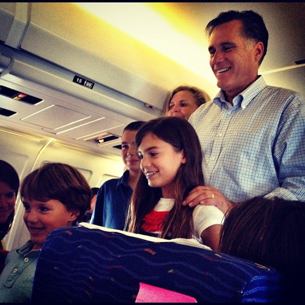 Mitt Romney and grandkids
