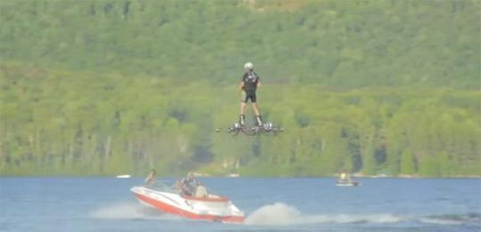 Canadian Inventor Sets Record for Farthest Flight by Hoverboard