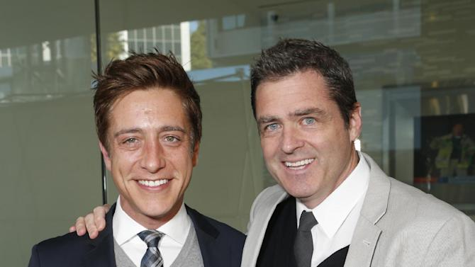 Film Independent Co-Presidents Sean McManus and Josh Welsh  attend the Film Independent Spirit Awards Luncheon at BOA Steakhouse on Saturday, Jan. 12, 2013, in West Hollywood, Calif. (Photo by Todd Williamson/Invision/AP)
