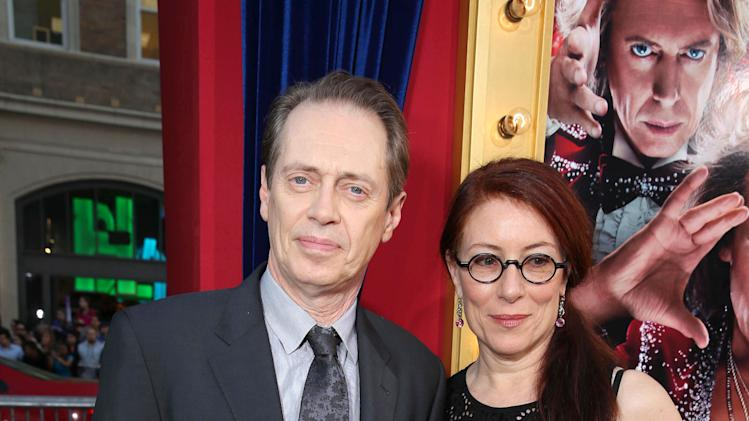 Steve Buscemi and wife Jo Andres at New Line Cinema's World Premiere of 'The Incredible Burt Wonderstone' held at Grauman's Chinese Theatre on Monday, Mar., 11, 2013 in Los Angeles. (Photo by Eric Charbonneau/Invision for New Line Cinema/AP Images)
