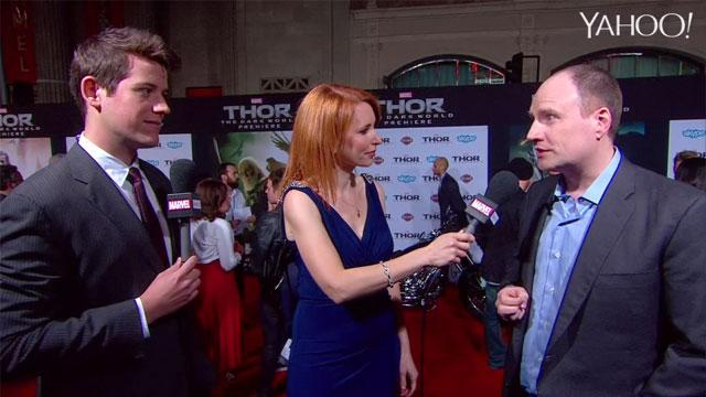 "Marvel Studios President Kevin Feige on the red carpet for ""Thor: The Dark World"""