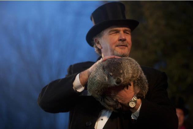 Phil's annual weather prediction on Groundhog Day in Punxsutawney
