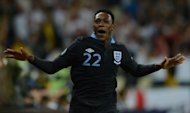 English forward Dany Welbeck celebrates after scoring against Sweden during their Euro 2012 championships football match at the Olympic Stadium in Kiev. Welbeck sealed a topsy-turvy 3-2 win for England over Sweden in Friday's crucial Euro 2012 Group D encounter in Kiev to end a four-decade winless run in competitive matches against the Scandinavians