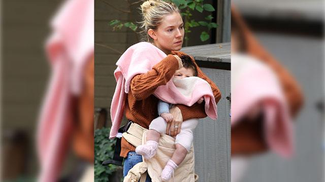 Sienna Miller Steps Out With Baby Marlowe