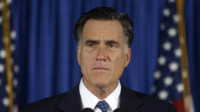 Republican presidential candidate, former Massachusetts Gov. Mitt Romney speaks about the killing of U.S. embassy officials in Benghazi, Libya, during a campaign stop in Jacksonville, Fla., Wednesday, Sept. 12, 2012. Romney condemned the violent protests in Libya and Egypt and expressed condolences to the families of those slain in the attack in Benghazi. He also criticized the President Barack Obama's administration, accusing it of standing in apology for American values when it should have been voicing outrage over the violence. (AP Photo/Charles Dharapak)