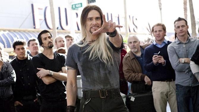 "This film image released by Warner Bros. Pictures shows Jim Carrey in a scene from, ""The Incredible Burt Wonderstone."" (AP Photo/Warner Bros. Pictures, Ben Glass)"