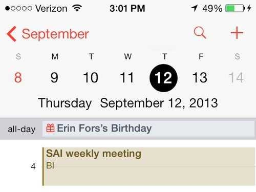 apple ios 7 calendar