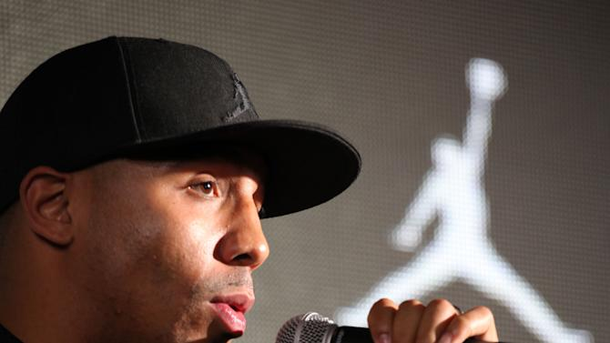 Jordan Brand athlete, undefeated (26-0) boxer Andre Ward, answers questions at Jordan Brand's Flight Experience on Friday, February 15, 2013 in Houston, TX.  Ward will host the nation's best high school players at Gleason's Gym during the Jordan Brand Classic in April.  (Photo by Omar Vega/Invision for Jordan Brand/AP Images)