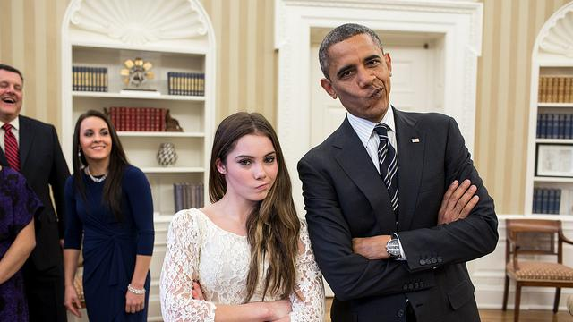 President Obama Meets McKayla Maroney, Not Impressed [PIC]