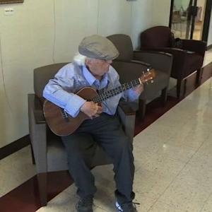 Ukelele player, 97, evicted from retirement home