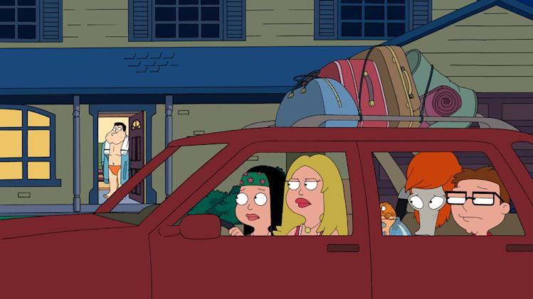 "A scene from the ""American Dad"" season premiere, ""Hot Water."""