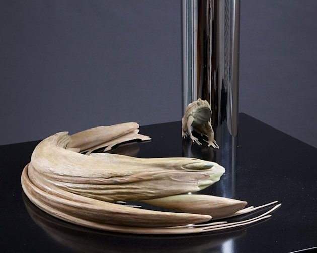 Jonty Hurwitz anamorphic sculptures