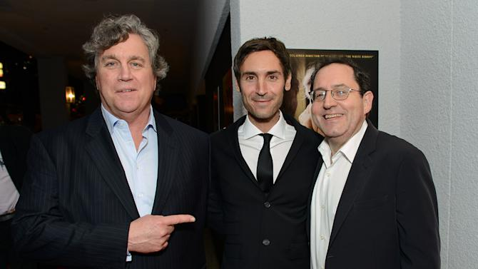 IMAGE DISTRIBUTED FOR SONY PICTURES CLASSICS - From left, Sony Pictures Classics Tom Bernard, Actor Malik Bendjelloul and Sony Pictures Classics Michael Barker attend the Sony Pictures Classics Pre-Oscar Dinner at The London Hotel on Saturday, Feb. 23, 2013 in West Hollywood, California. (Photo by Jordan Strauss/Invision for Sony Pictures Classics/AP Images)