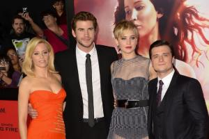 'Hunger Games: Catching Fire' L.A. Premiere: Jennifer Lawrence, Liam Hemsworth, Josh Hutcherson (Photos)
