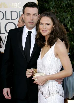 FILE - In this Jan. 15, 2007 file photo, Ben Affleck, left, and Jennifer Garner arrive for the 64th Annual Golden Globe Awards in Beverly Hills, Calif. (AP Photo/Mark J. Terrill, File)