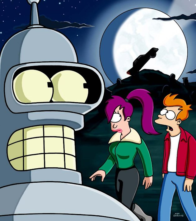 Bender, Fry and Leela get spooked when they spend the night in a haunted house on Futurama. 