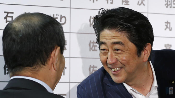 Japan's ruling bloc wins upper house elections