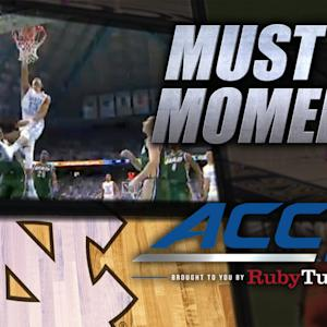 UNC's J.P. Tokoto Huge 1-Handed Slam | ACC Must See Moment  Watch as UNC's J.P. Tokoto gets in the lane and throws down the powerful one-handed dunk over the UAB defense in this ACC Must See Moment!