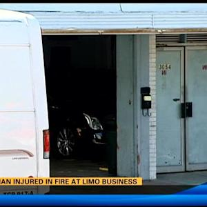 One man injured in fire at limo business