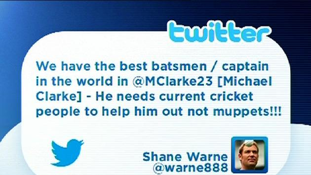 Warne launches Twitter tirade