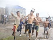RANGREZZ: Jackky Bhagnani plays soccer in Worli village