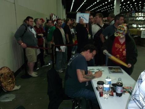 Kevin Eastman co-created the Teenage Mutant Ninja Turtles. His fans were lined up all weekend at 2011 Detroit Fanfare. (Photo courtesy of L. Vincent Poupard.)