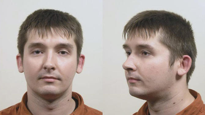 These undated booking photos, taken by the national police in The Netherlands and provided by U.S. Immigration and Customs Enforcement, show Robert Mikelsons, who was sentenced in Amsterdam on May 21, 2012, to 18 years in prison for abusing dozens of babies and toddlers. A child pornography investigation, which began when a Massachusetts man sent a photo of a young Dutch boy to an undercover federal agent in Boston, led to the arrests of 43 men in seven countries, including Mikelsons, and helped identify more than 140 child victims. (AP Photo/Netherlands police via U.S. Immigration and Customs Enforcement)