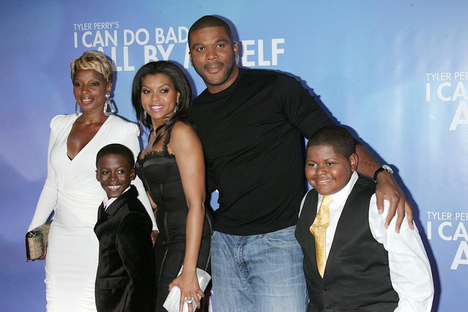 Tyler Perry's I Can Do Bad All By Myself Premiere 2009 Mary J Blige Kweski Boakye Taraji P Henson Tyler Perry Freddy Siglar