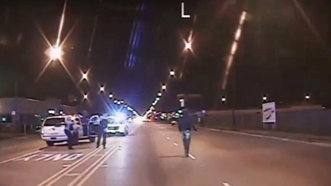 Still image from video released by Chicago Police shows Laquan McDonald before he was killed in Chicago