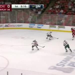Devan Dubnyk Save on Brandon Saad (10:46/1st)