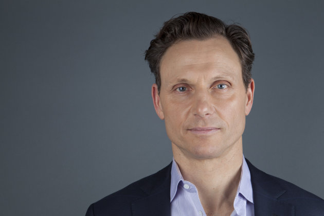 This Jan. 30, 2013 photo shows actor Tony Goldwyn from the ABC television series &quot;Scandal&quot; in New York. Goldwyn portrays President Fitzgerald Grant, who is having an affair with his former communications director, Olivia Pope, portrayed by Kerry Washington. (Photo by Amy Sussman/Invision/AP)