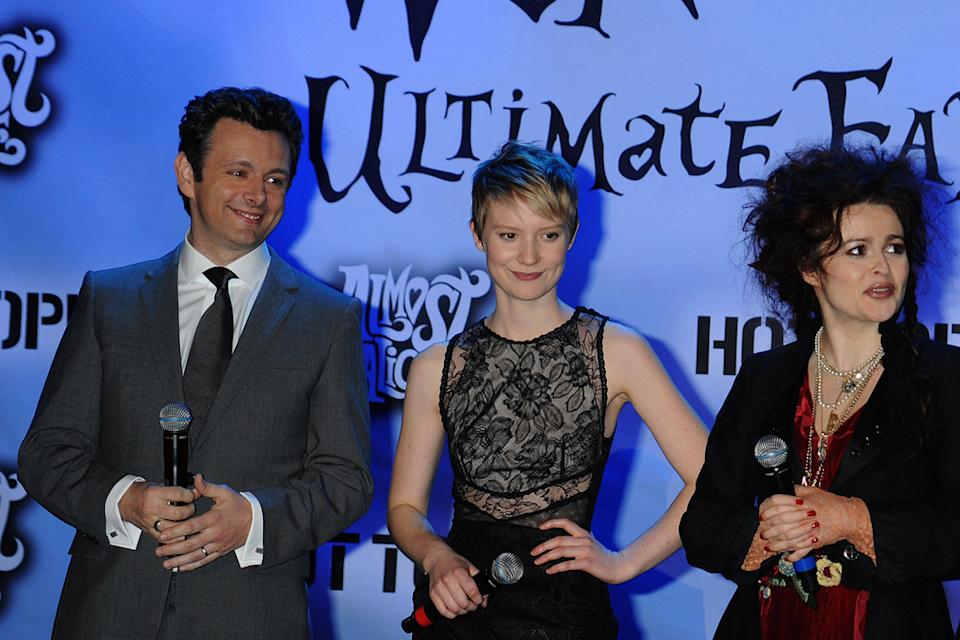 Alice in Wonderland Fan Event 2010 Michael Sheen Mia Wasikowska Helena Bonham Carter