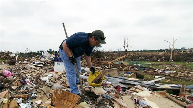 No rest for tornado victims on holiday weekend