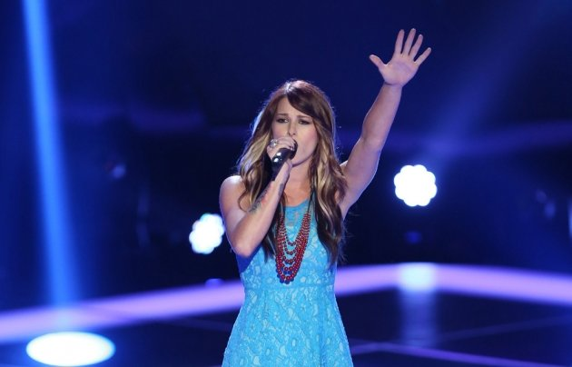 Cassadee Pope performs on NBC's 'The Voice' -- NBC