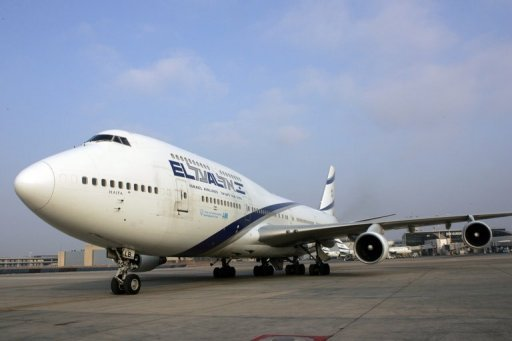 An El Al plane is parked on the tarmac at Ben Gurion International airport in Tel Aviv. El Al is seeking to put an immediate end to its weekly flight to Cairo for the first time since the signing of the 1979 peace treaty with Egypt, according to the Maariv newspaper