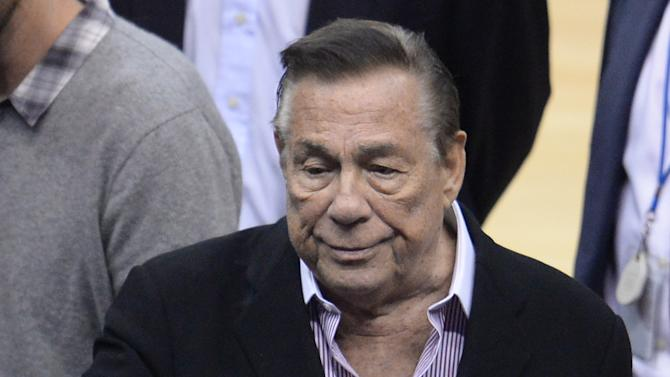 Los Angeles Clippers owner Donald Sterling pictured at Staples Center in Los Angeles on April 21, 2014