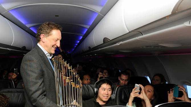 Virgin America SF Giants Championship Trophy from SFO - JFK