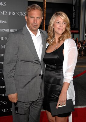 Kevin Costner and wife Christine Baumgartner at the Hollywood premiere of MGMs' Mr. Brooks