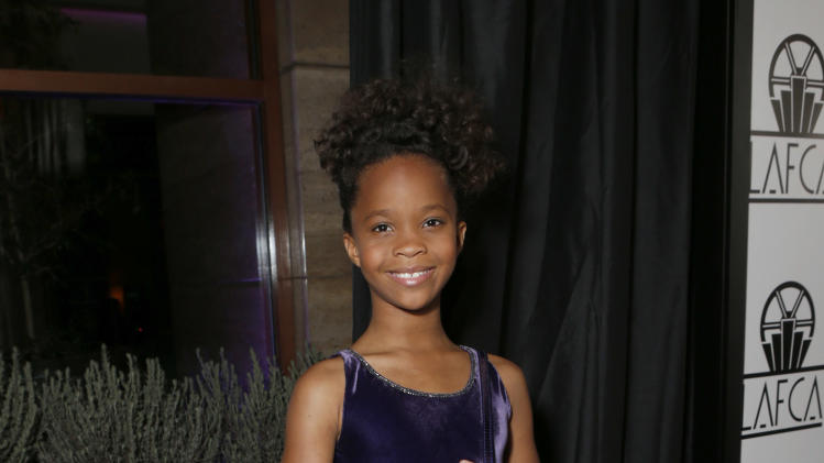 Quvenzhane Wallis attends the LA Film Critics Association Awards at the InterContinental Hotel on Saturday, Jan. 12, 2013, in Los Angeles. (Photo by Todd Williamson/Invision/AP)