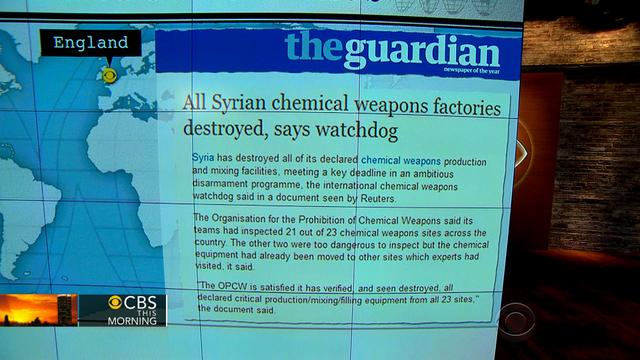 Headlines: Syria destroys its chemical weapons factories
