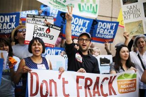 Filmmaker Josh Fox joins a protest against fracking in California in this file photo