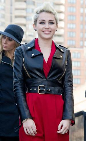 Miley Cyrus attends Fall 2013 Mercedes-Benz Fashion week at Lincoln Center on February 13, 2013 in New York City -- Getty Premium